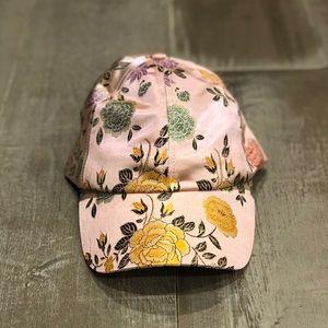 NWOT UO Floral Satin Baseball Hat